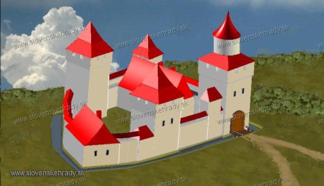 Bánovský hrad - skeč model hradu