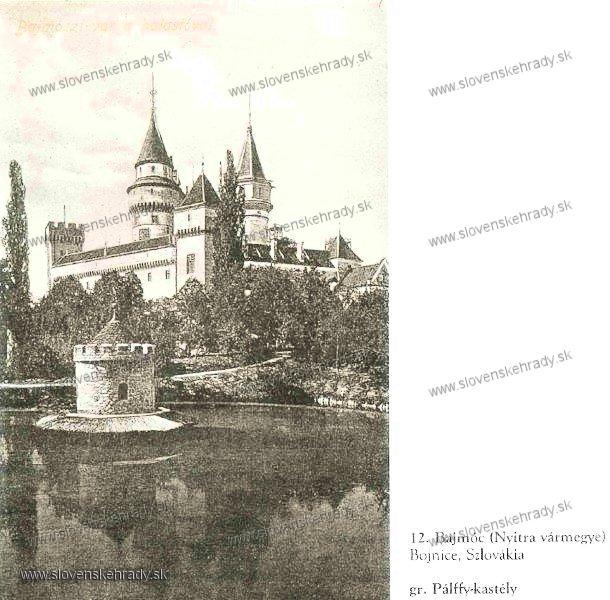Bojnický zámok - sken z knihy Régvolt Magyar Kastélyok