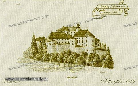 Bojnický zámok - pred romantickou prestavbou v roku 1887