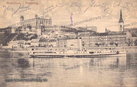 Bratislavský hrad - na pohľadnici<br>Zdroj: aukro.cz