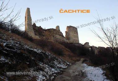 Čachtický hrad - zimný pohľad