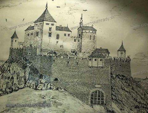 Čachtický hrad - rekonštrukcia Čachtického hradu v 17. storočí