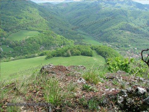 Čierna Lehota - pohľad z hradnej plošiny