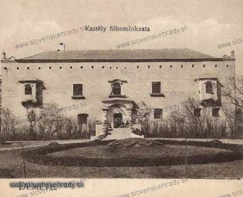 Demjata - kaštieľ na pohľadnici z roku 1910
