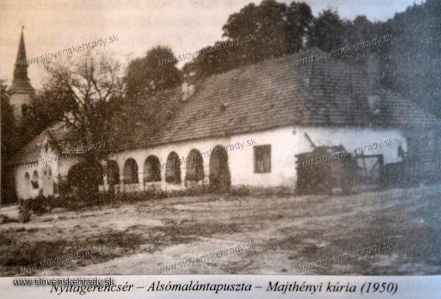 Dolná Malanta - zaniknutá kúria