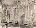 Haličský zámok - interiér zámku na prelome 19. a 20.storočia