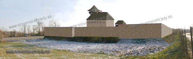 Idiansky hrad - model hradu na súčasnom teréne