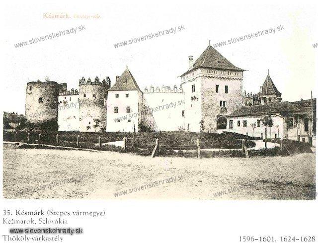 Kežmarský zámok - sken z knihy Régvolt Magyar Kastélyok