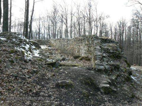 Košický hrad - hradby