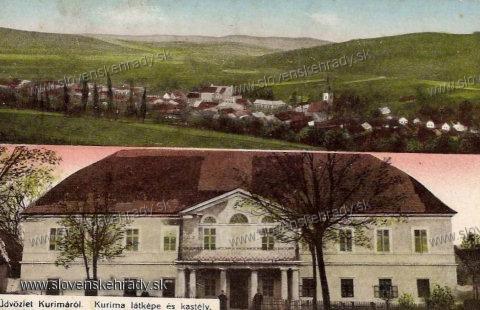 Kurima - kaštieľ na pohľadnici z roku 1910