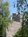 Levický hrad - pohľad z parku