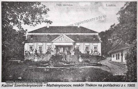 Lontov - kaštieľ Szentiványiovcov/Mathényiovcov/Thekovcov