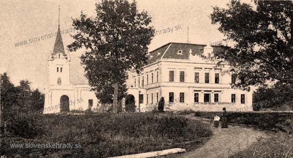 Mlyňany - pseudoklasicisticko-neogotický kaštieľ - zbierka Borovszky