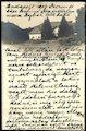 Nižný Hrušov - neskorobarokový kaštieľ na pohľadnici z roku 1909