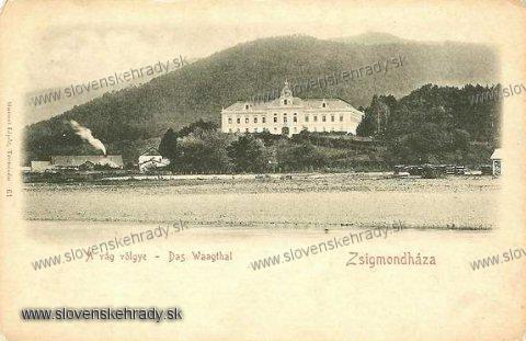 Orlové - barokový, pôvodne renesančný kaštieľ v roku 1900