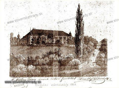 Ožďany - kaštieľ v roku 1853