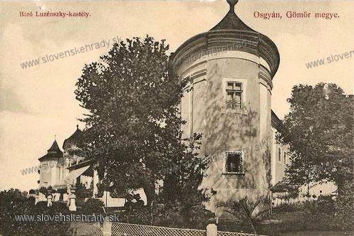 Ožďany - kaštieľ v roku 1910