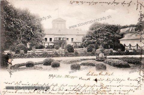 Palárikovo - barokový kaštieľ na starej pohľadnici<br>Zdroj: www.aukro.sk