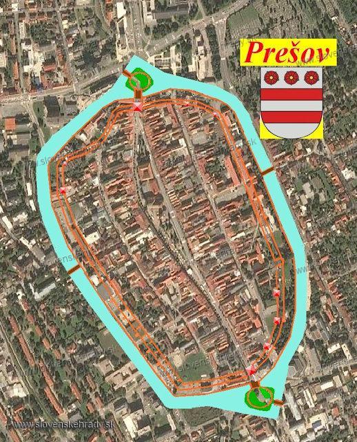 Prešov - mestské hradby