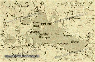 mapa zátopového územia Liptovskej Mary