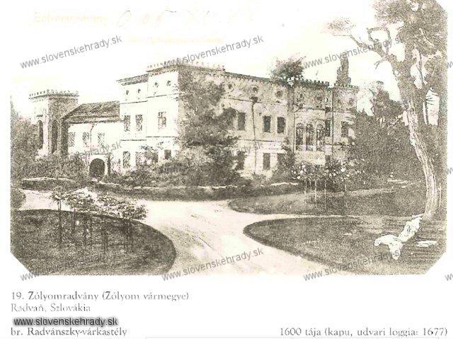 Radvaň - goticko-renesančný kaštieľ - sken z knihy Régvolt Magyar Kastélyok