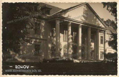 Rohov - klasicistický kaštieľ v roku 1934