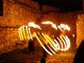 Spišský hrad - nočná prehliadka - ohňová šou