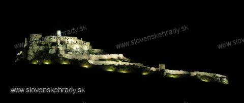 Spišský hrad - nočný pohľad