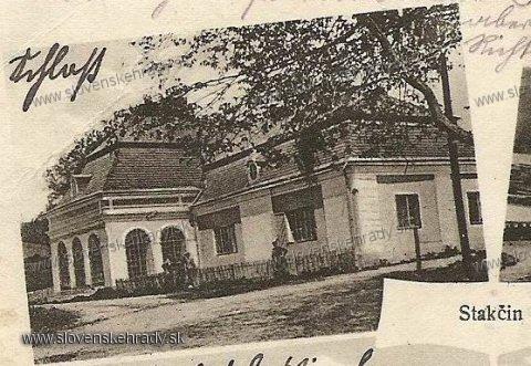 Stakčín - výrez z pohľadnice za 1. ČSR