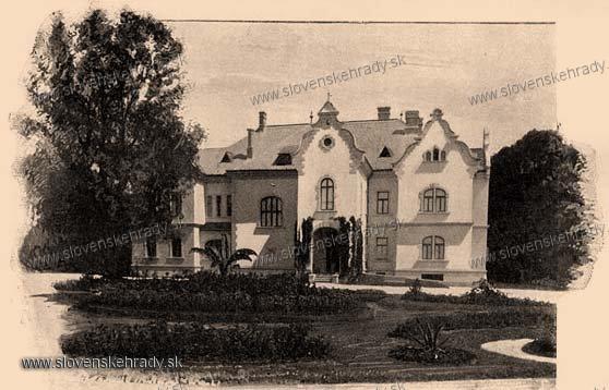 Strážske - historizujúci kaštieľ - zbierka Borovszky