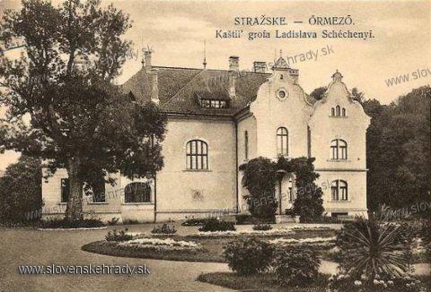 Strážske - historizujúci kaštieľ v roku 1927