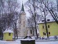Stropkovský hrad - zachovaná časť - kaštieľ, rímskokatolícky kostol, hradná studňa