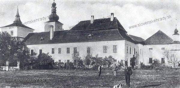 Teplička nad Váhom - renesančný kaštieľ - výzor okolo roku 1900