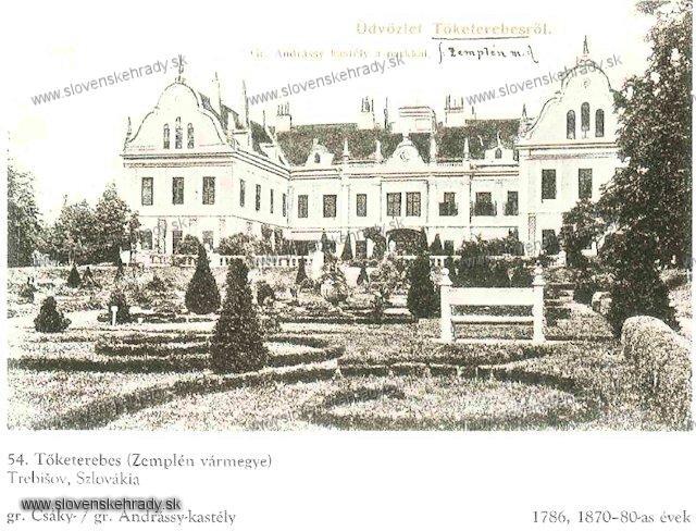 Trebišov - kaštieľ - sken z knihy Régvolt Magyar Kastélyok