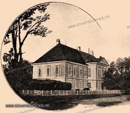 Veľké Chrašťany - klasicistický kaštieľ - zbierka Borovszky