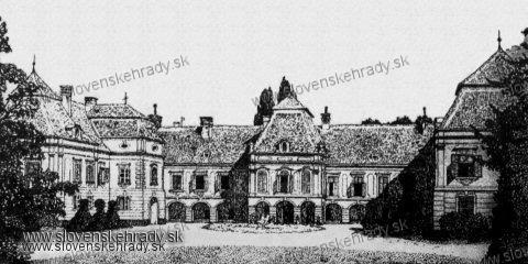 Veľké Leváre - Kresba kaštieľa z roku 1902